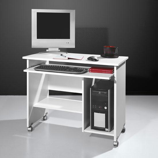 Белый компьютерный стол