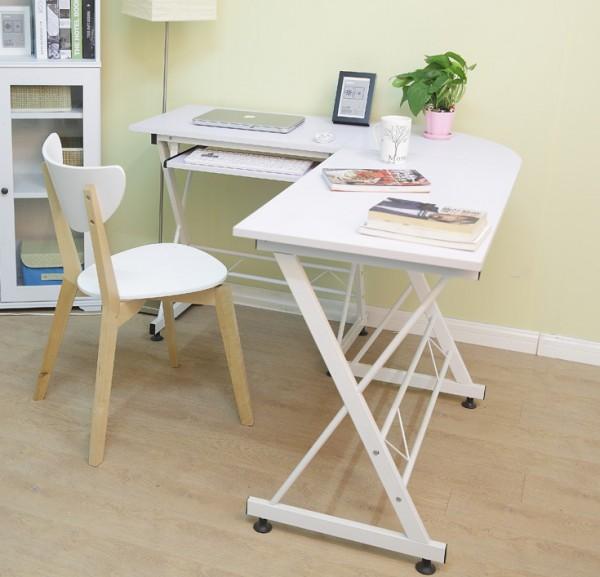 Белый стол металлический