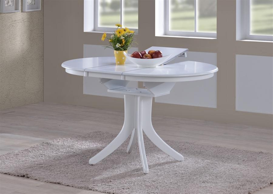 Белый стол на одной ножке