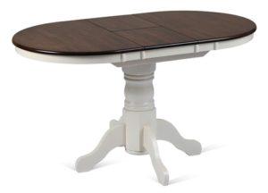 Белый стол с черной столешницей