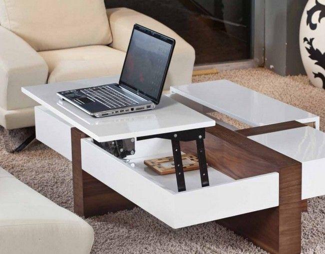 Белый стол трансформер