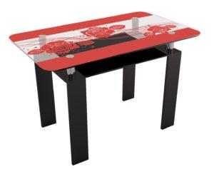 Черно-красный стол в кухню
