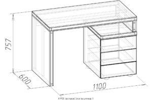 Чертеж письменный стол