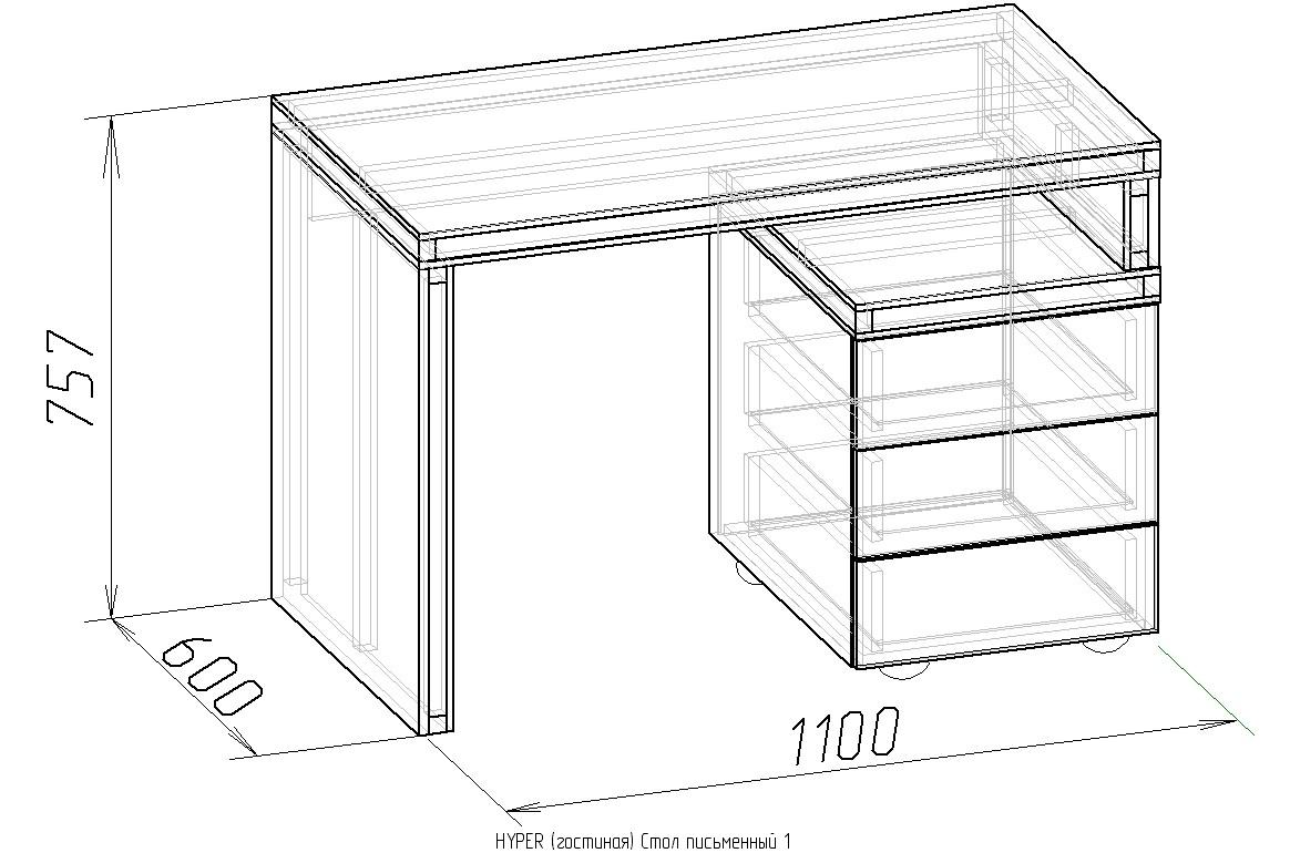 Стол письменный из массива дерева, обзор моделей по назначен.