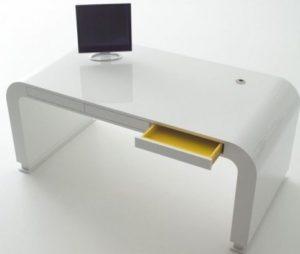 Дизайнерский белый стол