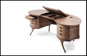 Дизайнерский стол из ценных пород дерева