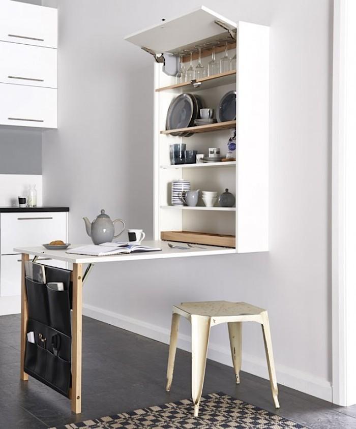 Этот кухонный стол шкаф может заменить половину кухни