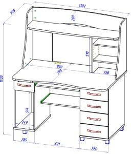 Глубина компьютерного стола