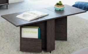 Компактный и практичный стол книжка прекрасно впишется в современный дизайн кухни или гостиной