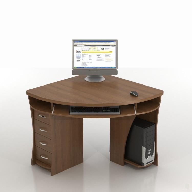 Компактный угловой стол