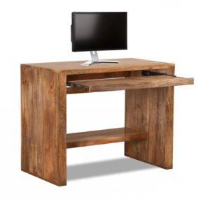 Компьютерный стол из необработанного дерева