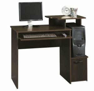 Компьютерный стол с тумбой и надстройкой для монитора