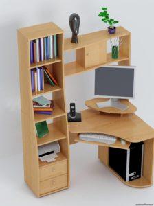 Компьютерный стол со стелажом