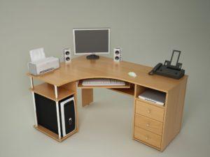 Компьютерный стол цвета ольха