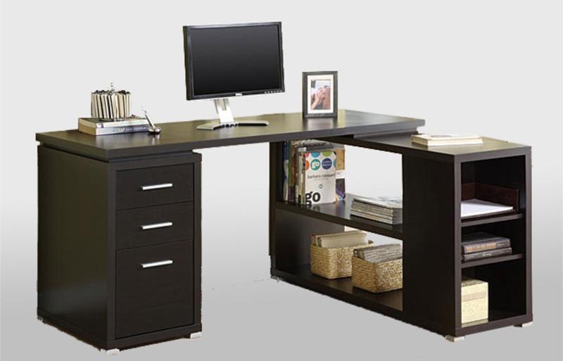 Компьютерный стол угловой темный