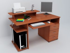 Коричневый стол для компьютера