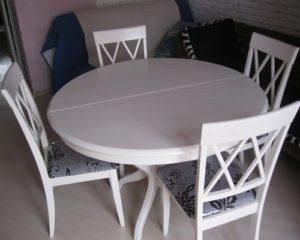 Круглый раздвижной стол для кухни