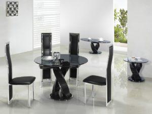 Круглый стеклянный стол монолитный