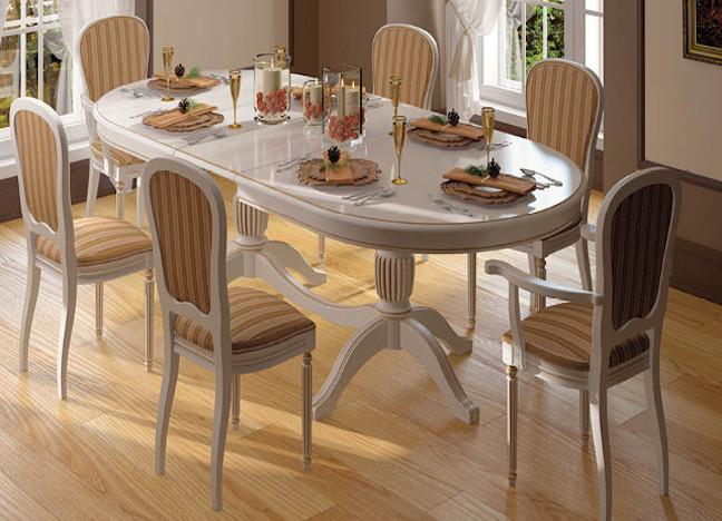 Кухонный белый стол