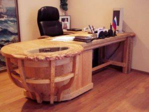 Мебель и фурнитура из необработанного дерева для офисов