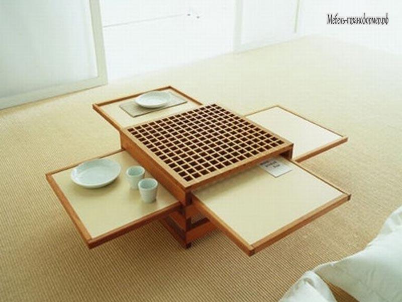 Небольшой раздвижной столик