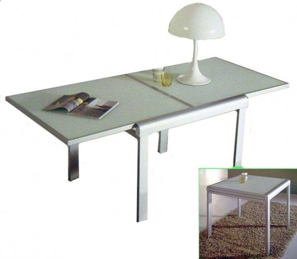 Небольшой стеклянный стол