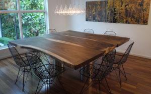 Необработанные края столов природная красота дизайна