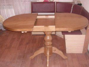 Обеденный овальный раздвижной деревянный