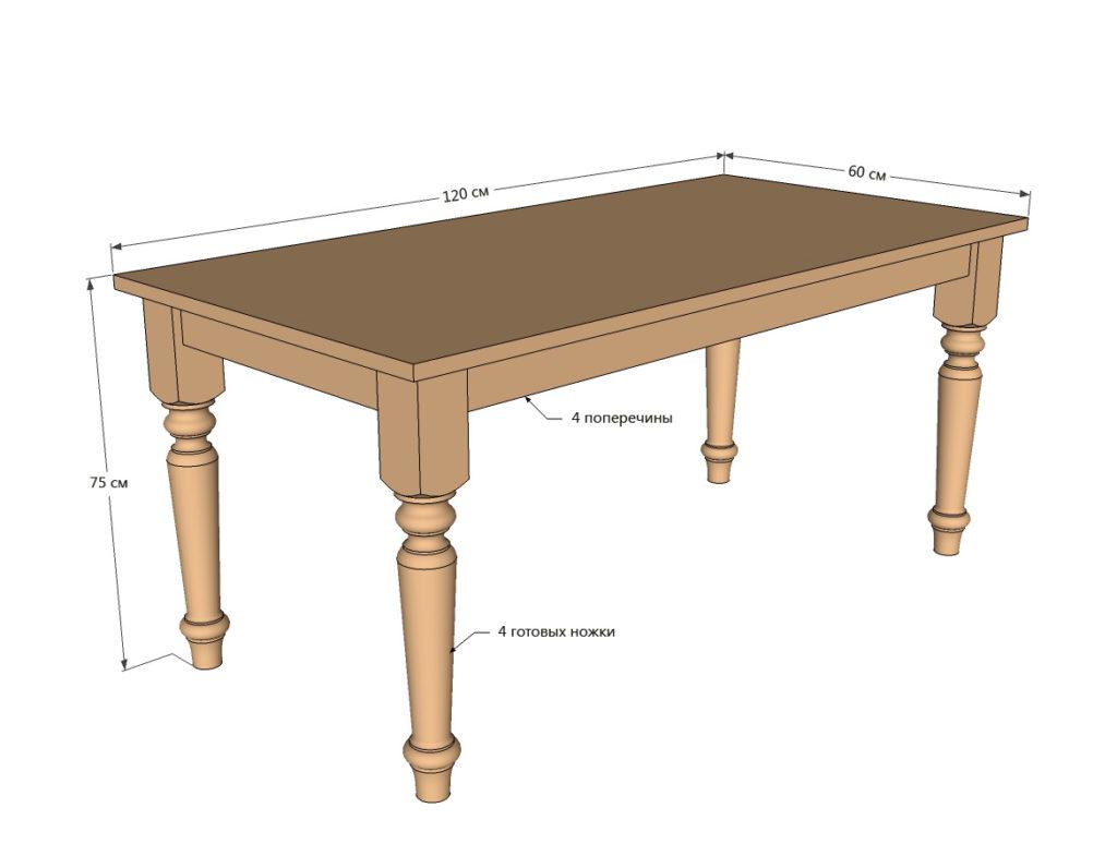 Чертежи стола обеденного своими руками