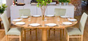 Обеденный стол круглый трансформер