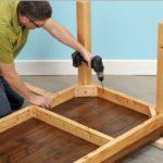 Технология изготовления стола из дерева своими руками