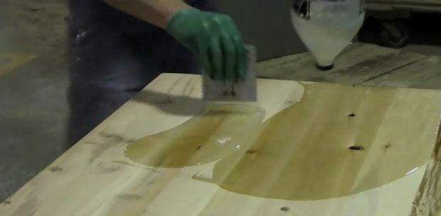 Использование жидкого стекла для обработки столешницы