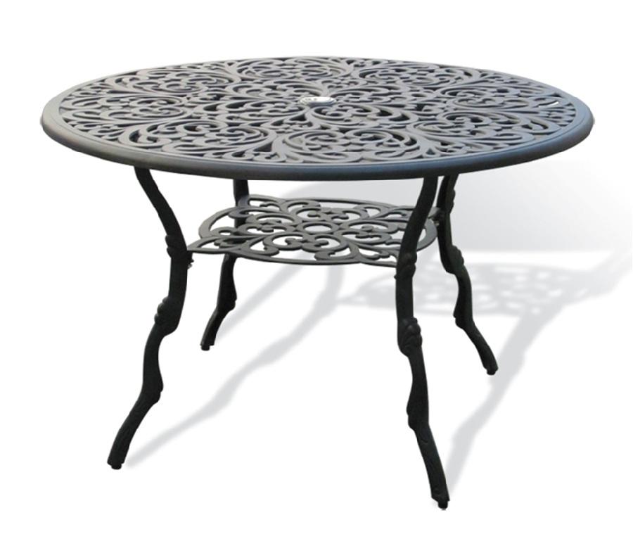 Овальный металлический стол
