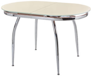 Овальный стеклянный обеденный стол