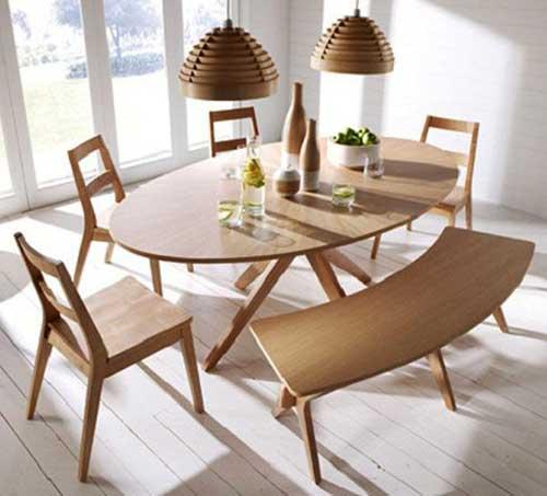 Овальный стол деревянный