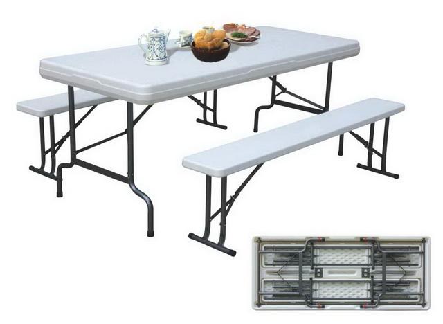 Пластиковый складной стол