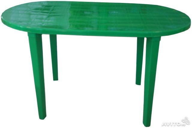 Пластиковый стол овальный