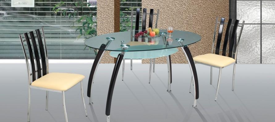 Преимущества овального стеклянного обеденного стола