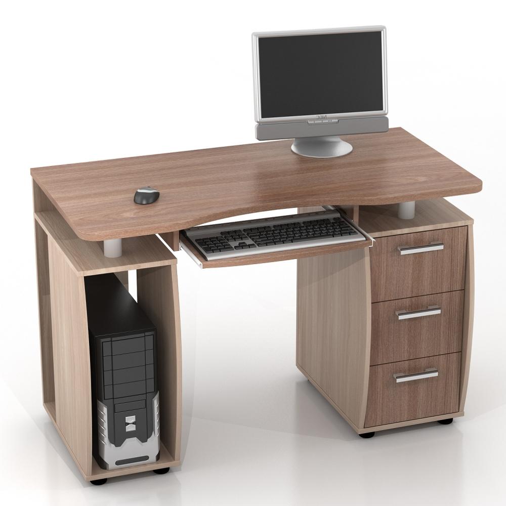 Прямой компьютерный стол