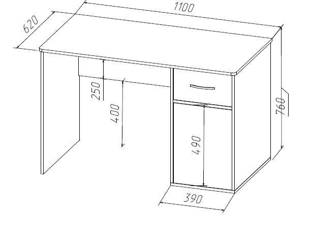 Размеры письменного стола