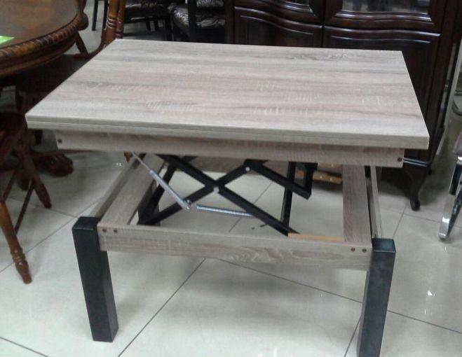 Серый стол трансформер