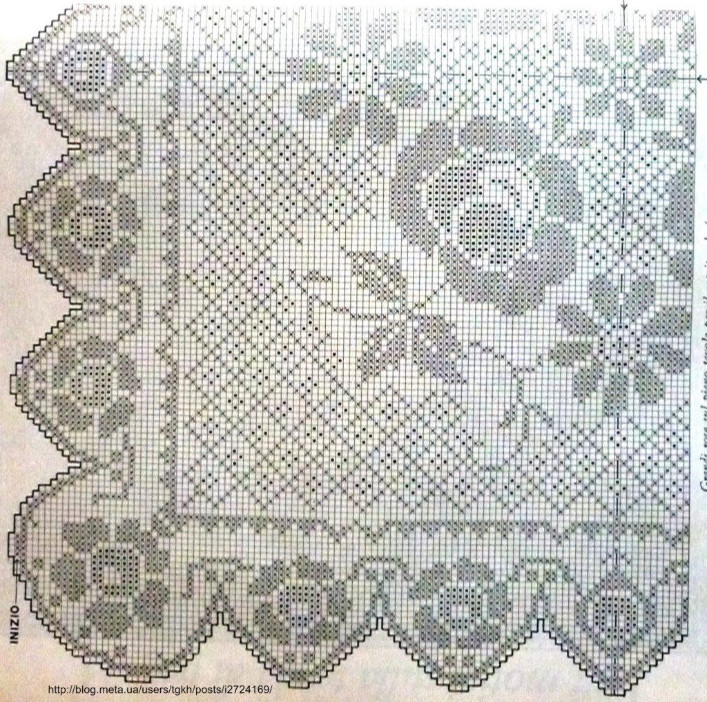 Филейное вязание скатертей 11