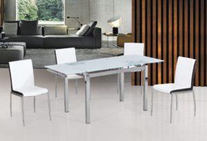 Стеклянный стол прямоугольной формы