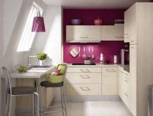 Стол для маленькой кухни в рабочей поверхности