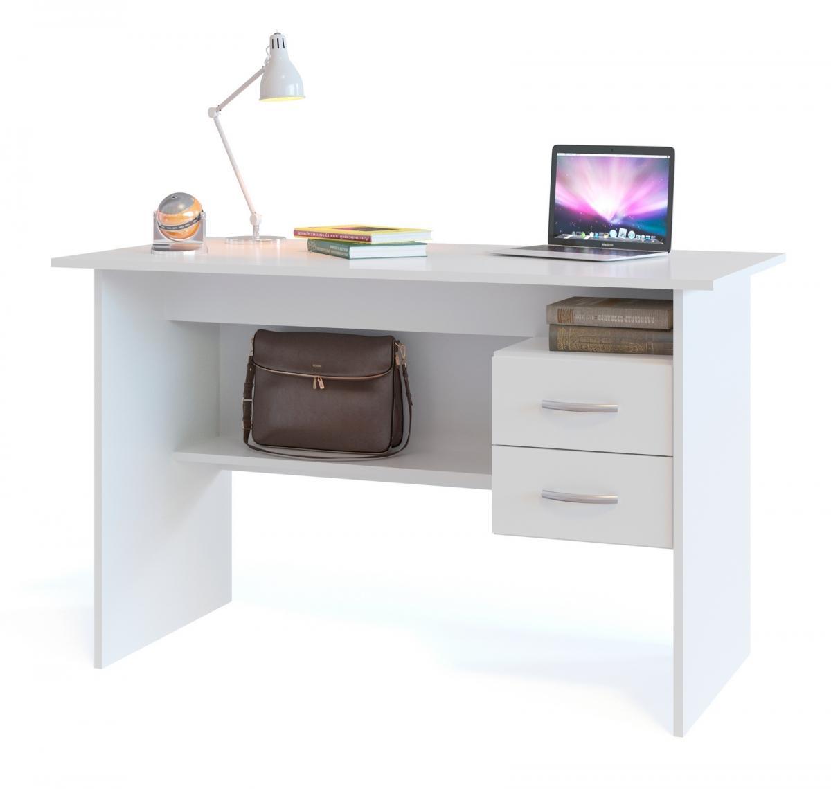 Белые компьютерные столы в интерьере