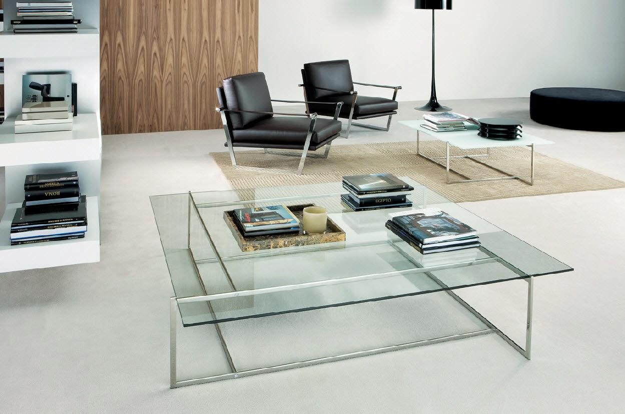 Стол из стекла в интерьере