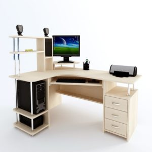 Стол компьютерный белый