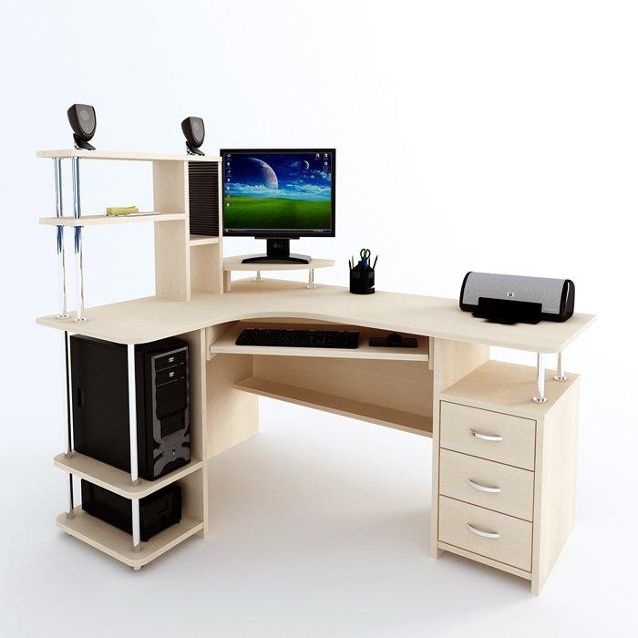 Компьютерные угловые столы фото и чертежи