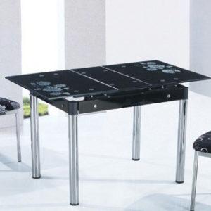 Стол кухонный стеклянный с раздвижным механизмом