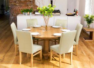 Стол обеденный для кухни круглый